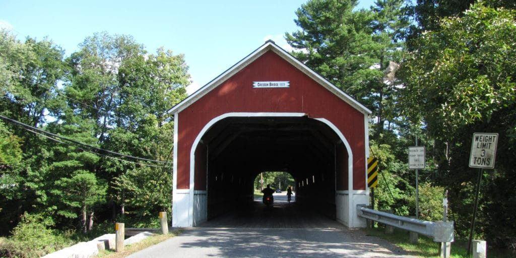 Swanzey NH covered bridge you may see while you are looking at Swanzey NH properties for sale